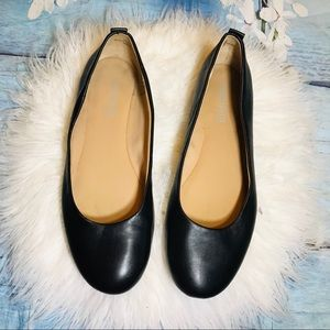 Easy spirit black leather ballet flat sz6M